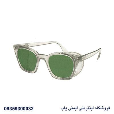 عینک ایمنی |عینک ایمنی بغل تور دار | عینک لنز سبز