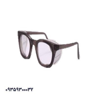 عینک ایمنی بغل توری سفید