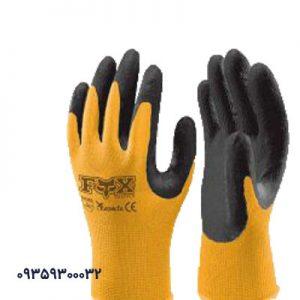 دستکش کار کف مواد نیتریل FOX کد1105